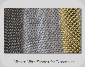 Woven Wire Fabrics for Decoration